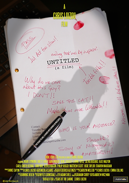 UNTITLED (a film) Script Page Poster
