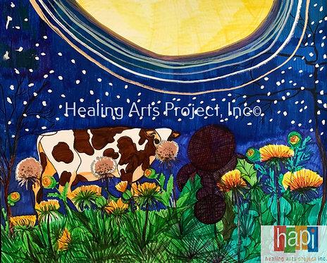 Moonlit Cow