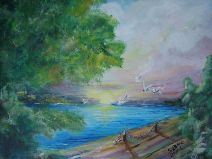 Sunset Over Water by Shree Lynn Brown McGruder