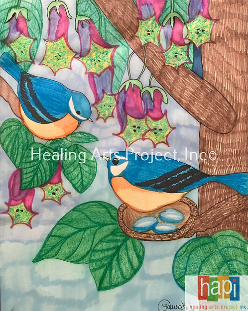 Warbling Blue Birds