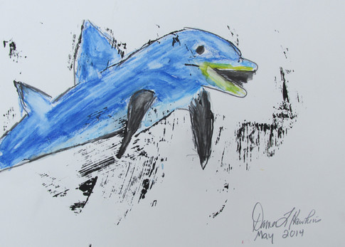 Dancing Dolphin by Donna Hawkins