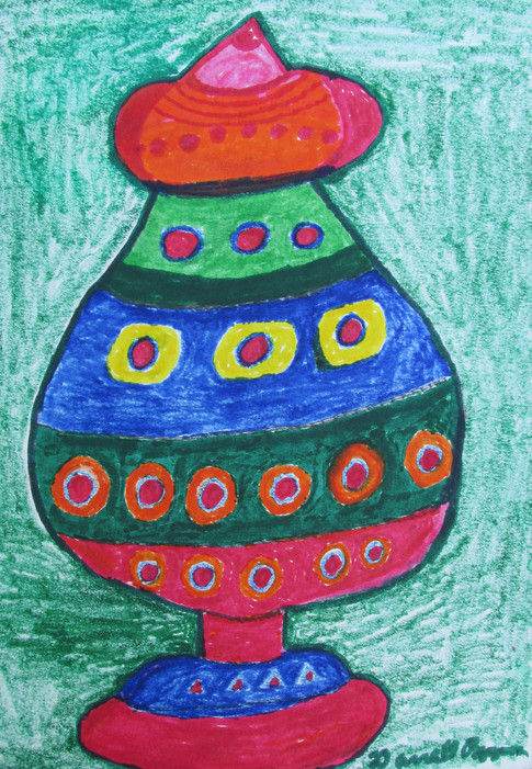 Colorful Jug by Darrell Pepper