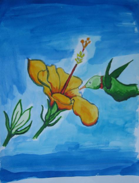 Hummingbird by Jeanne Garrison