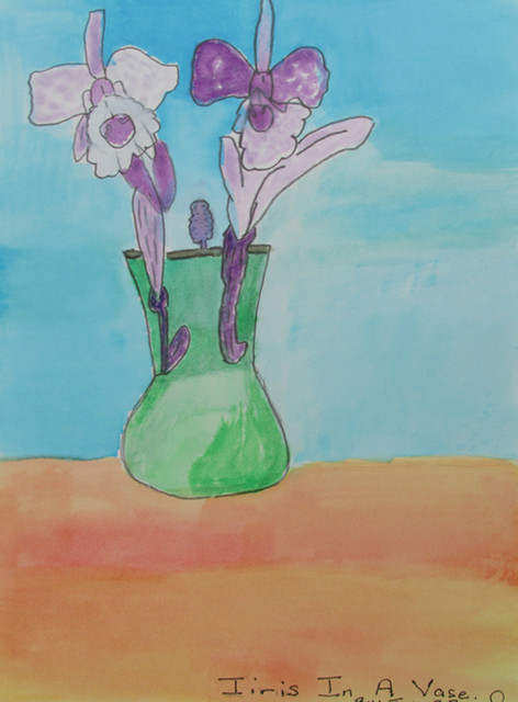 Iris In A Vase by John Sneed