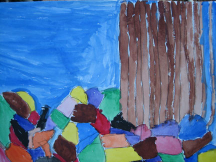 Trees with Colored Rocks by Bernice Pinkly