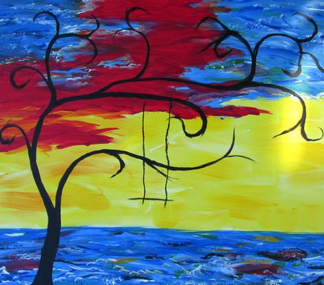 Calming Sunset by Starlene Weaver
