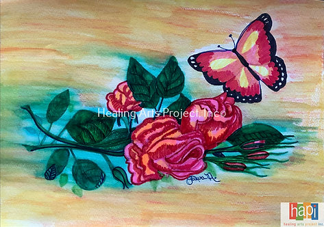 Butterfly and Blooms