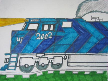 Train by Lamonte Hopkins