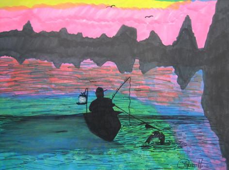 Night Fishing by Laura Hudson