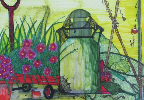 Watering Can by Laura Hudson