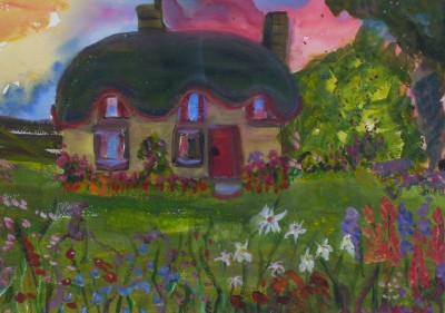 English Cottage by Anne Ambrose