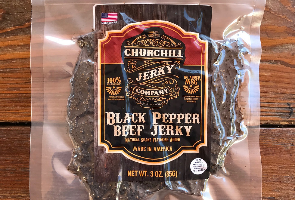 Churchill Jerky -  Black Pepper Beef 3 oz
