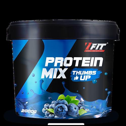 7 Fit Protein Mix Thumbs Up 2000 g - Borůvka
