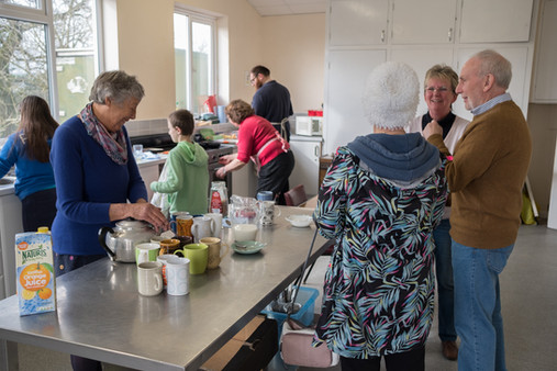 Grab a bite and cuppa at our monthly breakfast