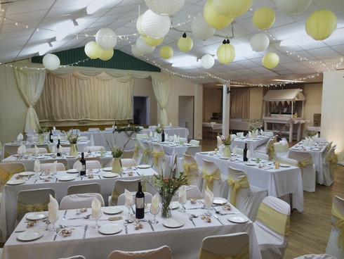 Ideal for wedding receptions