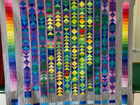 AMAZING TEMPERATURE QUILT CREATED BY OUR QUILTERS