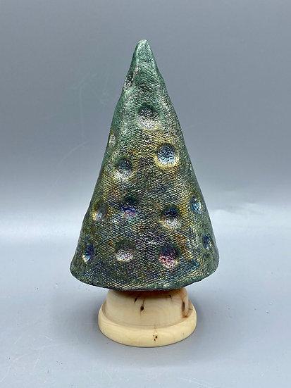 T4 Small dimpled metallic tree