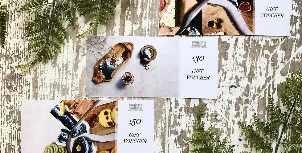 Gift Vouchers £20, £30 + £50