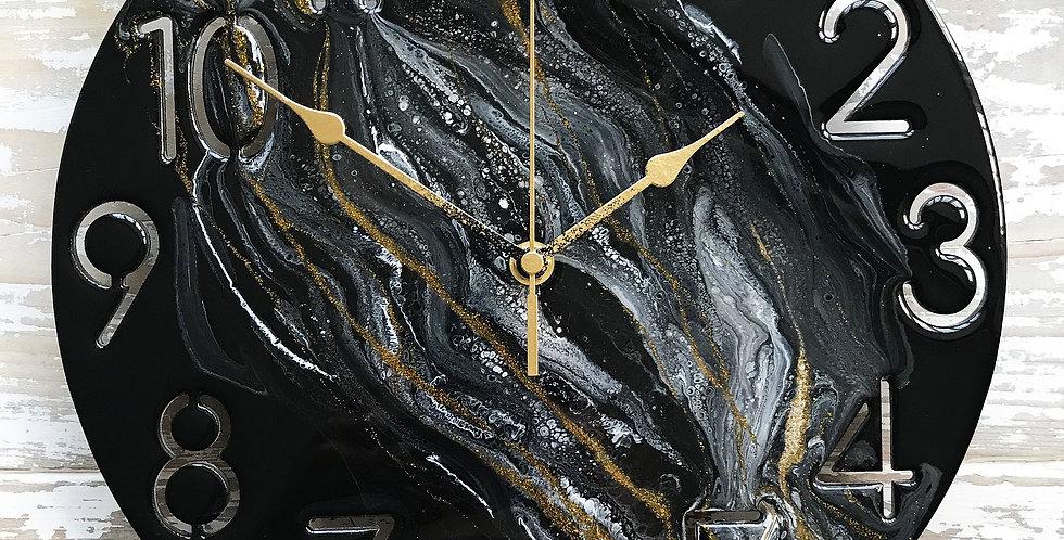 Black + Gold Clock