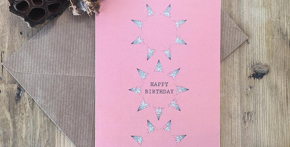 Bright Pink Birthday Card