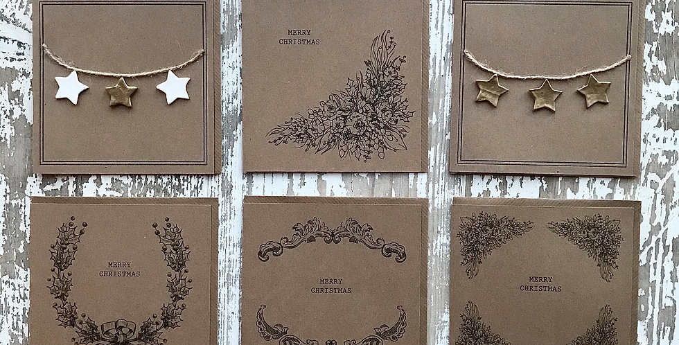 x6 100% Recycled Christmas Cards