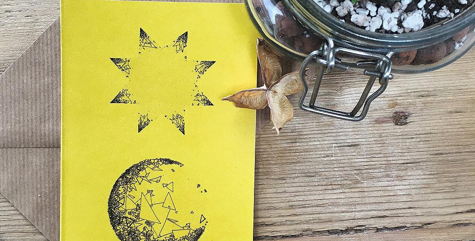 Sun Moon Art Card