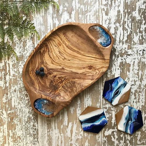 Ocean, Olive Wood Bowl