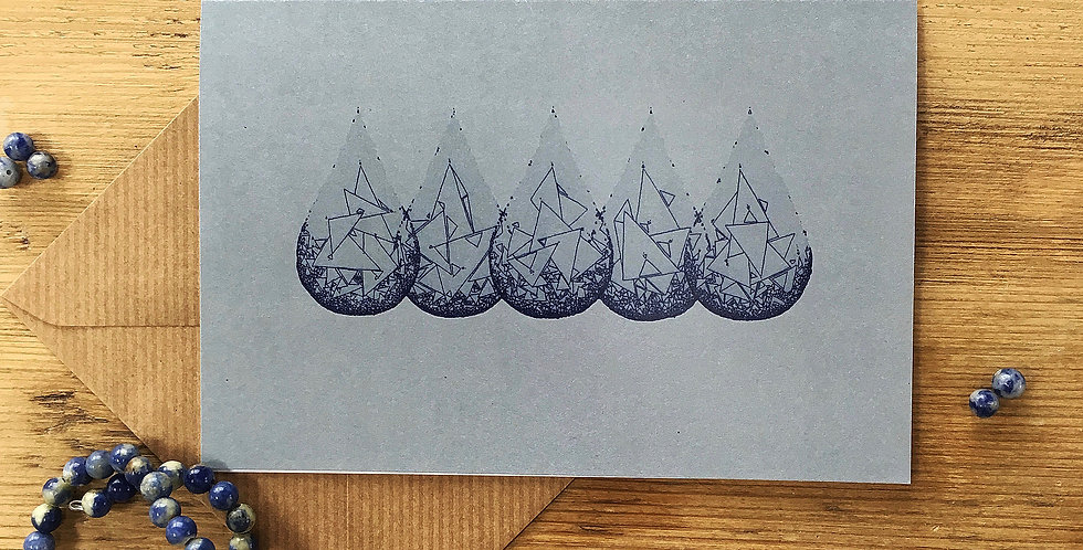 Rain Drop Art Card