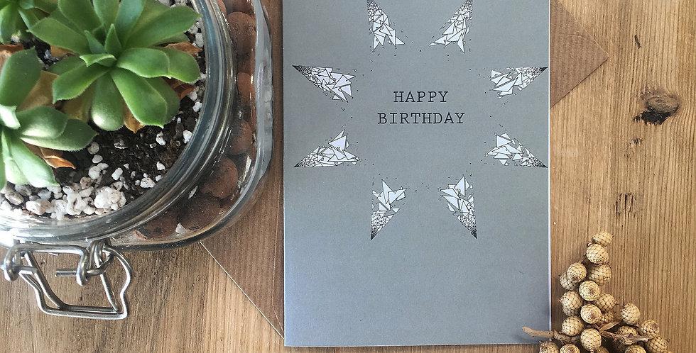 Moss Green Birthday Card