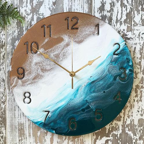 Teal Sea Clock