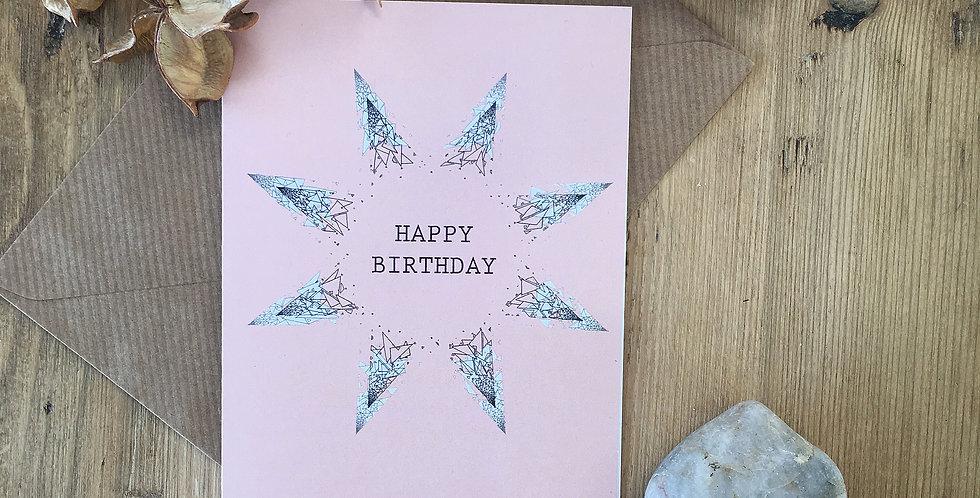 Pastel Pink Birthday Card