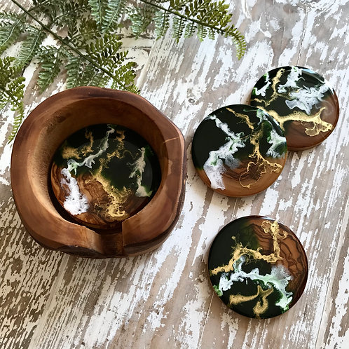 Green + Gold, Olive Wood