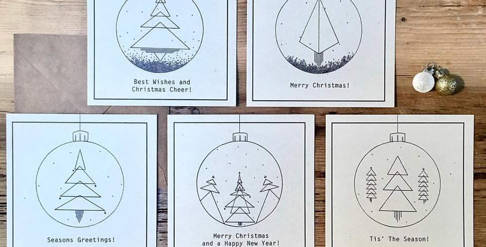 x5 100% Recycled Christmas Cards