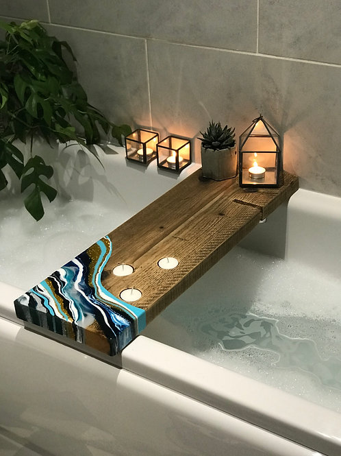 Teal + Gold, Bath Caddy