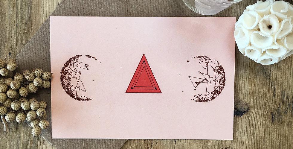 Highlighted Triangle Art Card
