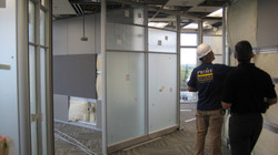 DIRTT Installation - Glazing