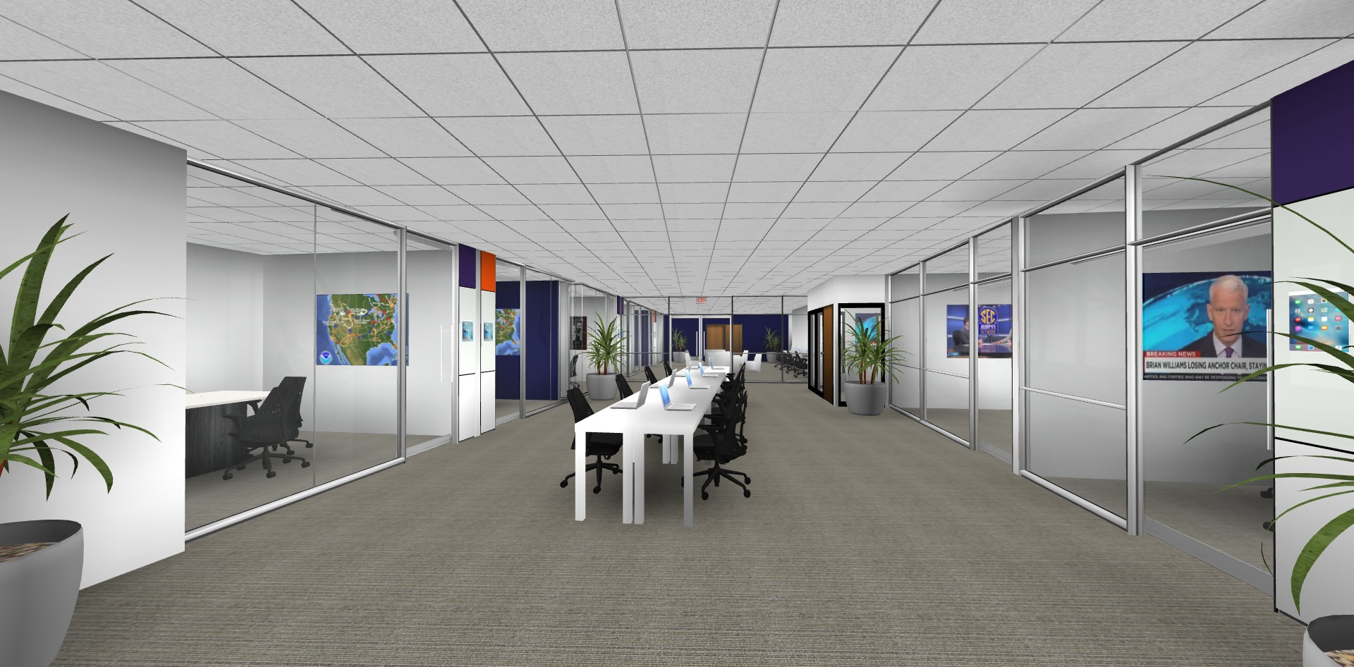 Rendering Higher Education Study Space
