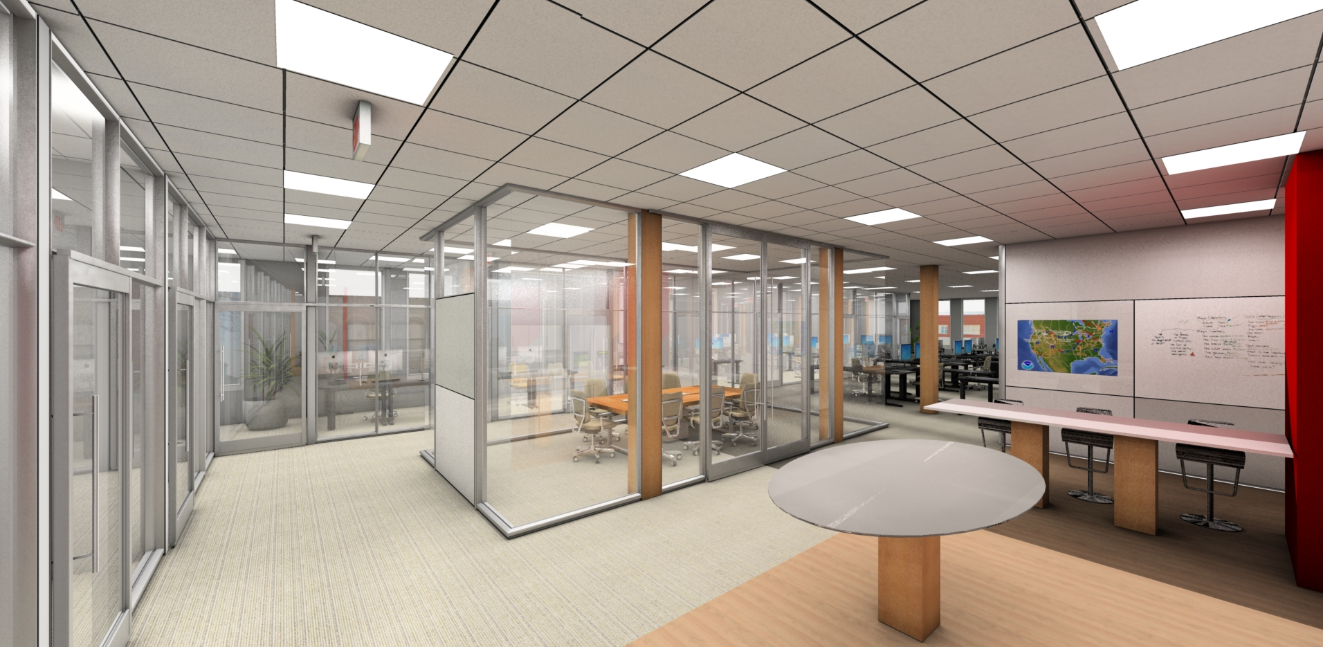 Rendering Commercial Office Space