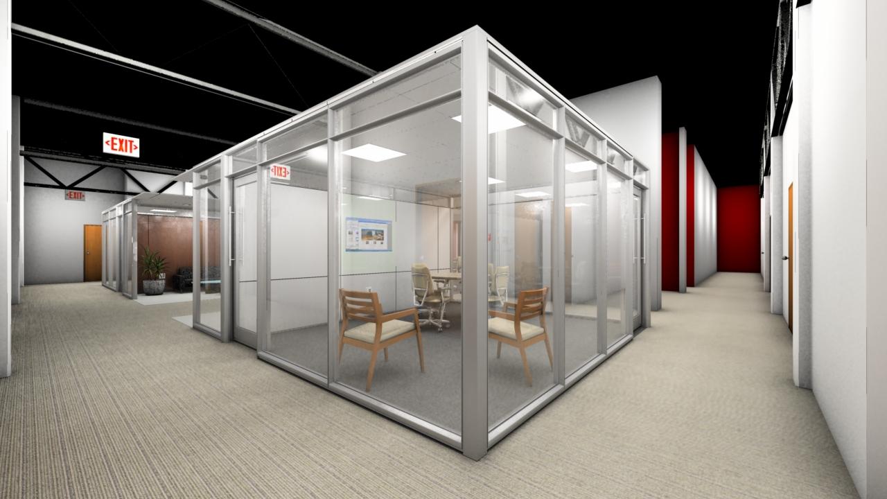 Rendering Office Pods