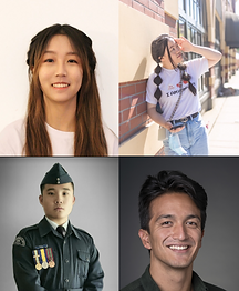 Tristan Downing, Masters graduate in Engineering and Science at MIT and Cambridge; Kyne Wang, UPenn Business acceptee; Lucy Mo, CMU CS acceptee; Sunny Hou, UCLA Biology acceptee