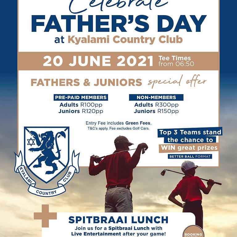 Celebrate Father's day with golf & Spit braai