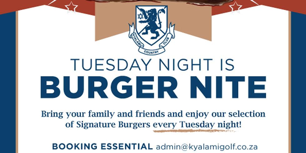 Tuesday Burger Nites