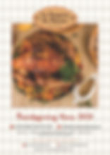 La Cuisine de Manou Thanksgiving menu
