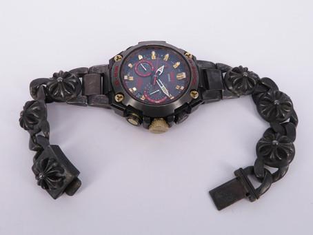 カシオ G-SHOCK MR-10 クロムハーツ マルチリンクブレスレット取り付け加工 (弓カンパーツ製作)