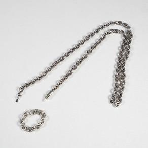 クロムハーツネックレスをコマカットしてリング製作