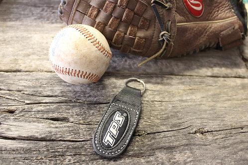 baseball glove leather key chain