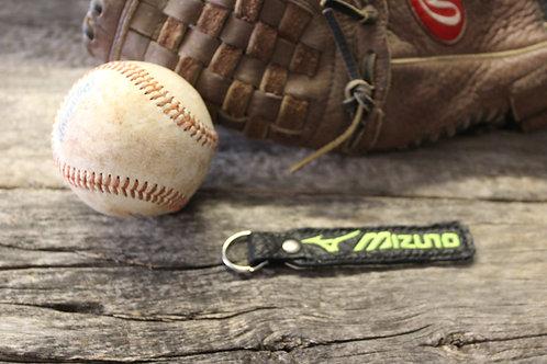 Baseball leather keychain