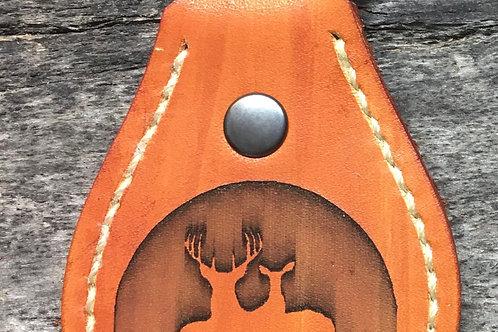 Saddlehorn keychain Deer Pair