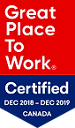 Great Place To Work 2019 certified badge