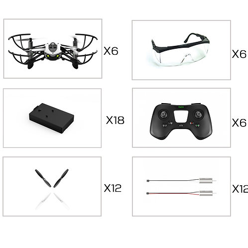 6 Pack RAD Competition Drones